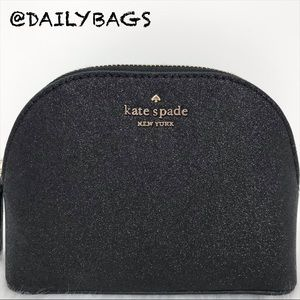 SMALL DOME COSMETIC KATE SPADE JOELEY BLACK NEW